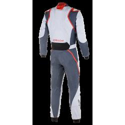 Alpinestars GP Race v2 Suit - Silver Asphalt Red