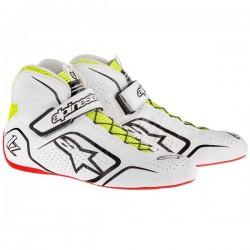 Alpinestars Tech 1-Z Shoe - White Black Yellow Fluo