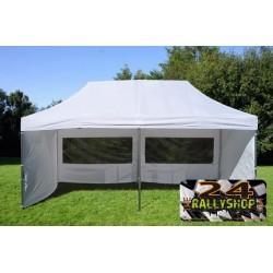 POP UP GAZEBO Service Tent, 3X6 M WHITE, INCL. 6 SIDEWALLS